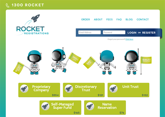 The new Rocket Registrations website